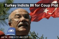 Turkey Indicts 86 for Coup Plot