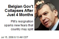 Belgian Gov't Collapses After Just 4 Months