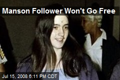 Manson Follower Won't Go Free