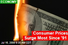 Consumer Prices Surge Most Since '91