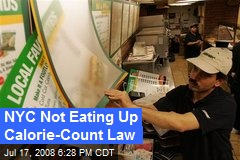NYC Not Eating Up Calorie-Count Law