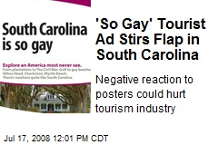 'So Gay' Tourist Ad Stirs Flap in South Carolina