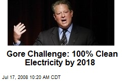 Gore Challenge: 100% Clean Electricity by 2018