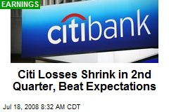 Citi Losses Shrink in 2nd Quarter, Beat Expectations