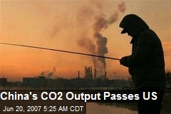 China's CO2 Output Passes US