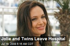 Jolie and Twins Leave Hospital