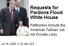 Requests for Pardons Flood White House