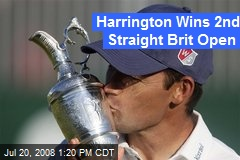 Harrington Wins 2nd Straight Brit Open