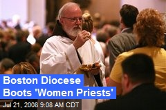 Boston Diocese Boots 'Women Priests'