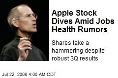 Apple Stock Dives Amid Jobs Health Rumors