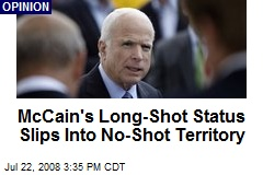 McCain's Long-Shot Status Slips Into No-Shot Territory