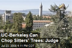 UC-Berkeley Can Chop Sitters' Trees: Judge