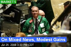 On Mixed News, Modest Gains