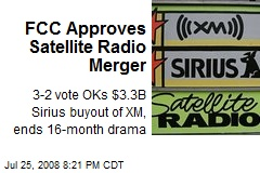 FCC Approves Satellite Radio Merger