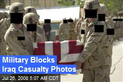 Military Blocks Iraq Casualty Photos