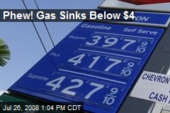 Phew! Gas Sinks Below $4