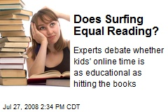 Does Surfing Equal Reading?
