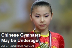 Chinese Gymnasts May be Underage