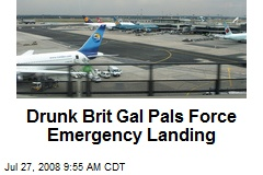 Drunk Brit Gal Pals Force Emergency Landing