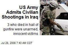 US Army Admits Civilian Shootings in Iraq