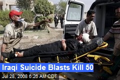 Iraqi Suicide Blasts Kill 50