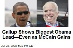 Gallup Shows Biggest Obama Lead—Even as McCain Gains