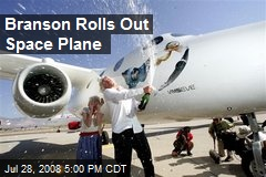 Branson Rolls Out Space Plane