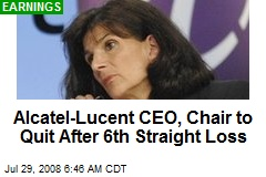 Alcatel-Lucent CEO, Chair to Quit After 6th Straight Loss