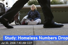 Study: Homeless Numbers Drop