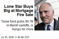 Lone Star Buys Big at Mortgage Fire Sale