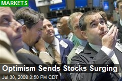 Optimism Sends Stocks Surging