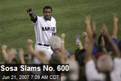 Sosa Slams No. 600