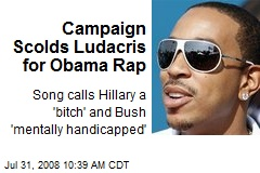 Campaign Scolds Ludacris for Obama Rap