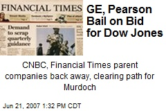 GE, Pearson Bail on Bid for Dow Jones
