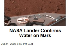 NASA Lander Confirms Water on Mars