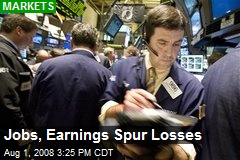 Jobs, Earnings Spur Losses