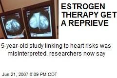 ESTROGEN THERAPY GETS A REPRIEVE