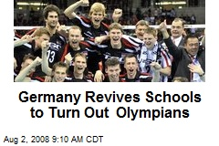 Germany Revives Schools to Turn Out Olympians