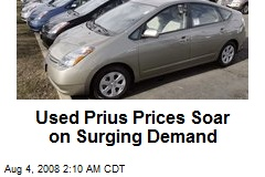 Used Prius Prices Soar on Surging Demand