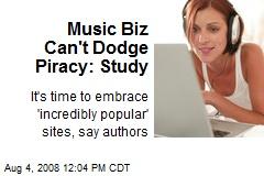 Music Biz Can't Dodge Piracy: Study
