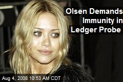 Olsen Demands Immunity in Ledger Probe