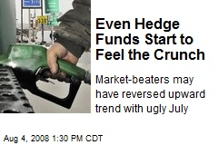 Even Hedge Funds Start to Feel the Crunch