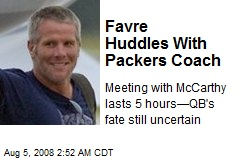 Favre Huddles With Packers Coach