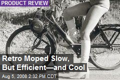 Retro Moped Slow, But Efficient—and Cool