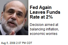 Fed Again Leaves Funds Rate at 2%