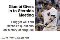 Giambi Gives in to Steroids Meeting