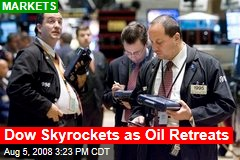 Dow Skyrockets as Oil Retreats
