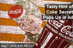 Tasty Hint of Coke Secret Pops Up in Ad