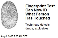 Fingerprint Test Can Now ID What Person Has Touched