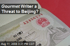 Gourmet Writer a Threat to Beijing?